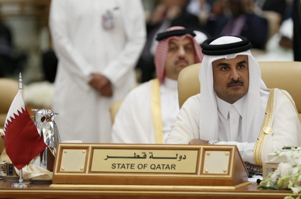 The Emir of Qatar Tamim bin Hamad al-Thani attends the final session of the South American-Arab Countries summit, in Riyadh in 2015. Credit: Faisal Al Nasser/Reuters