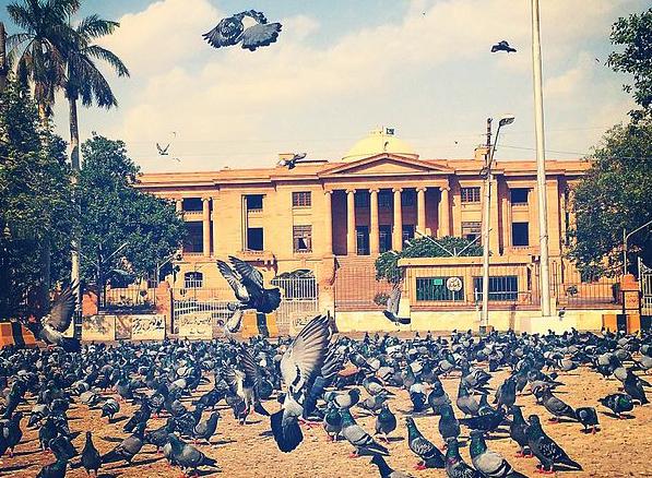 The Sindh high court at Kabootar Chowk, Karachi. Credit: Wikimedia Commons