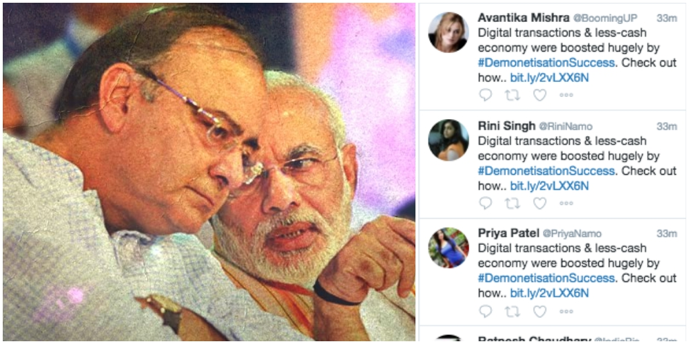 Templated Tweets, Trolls Deployed to Proclaim 'Success' of Demonetisation on Social Media
