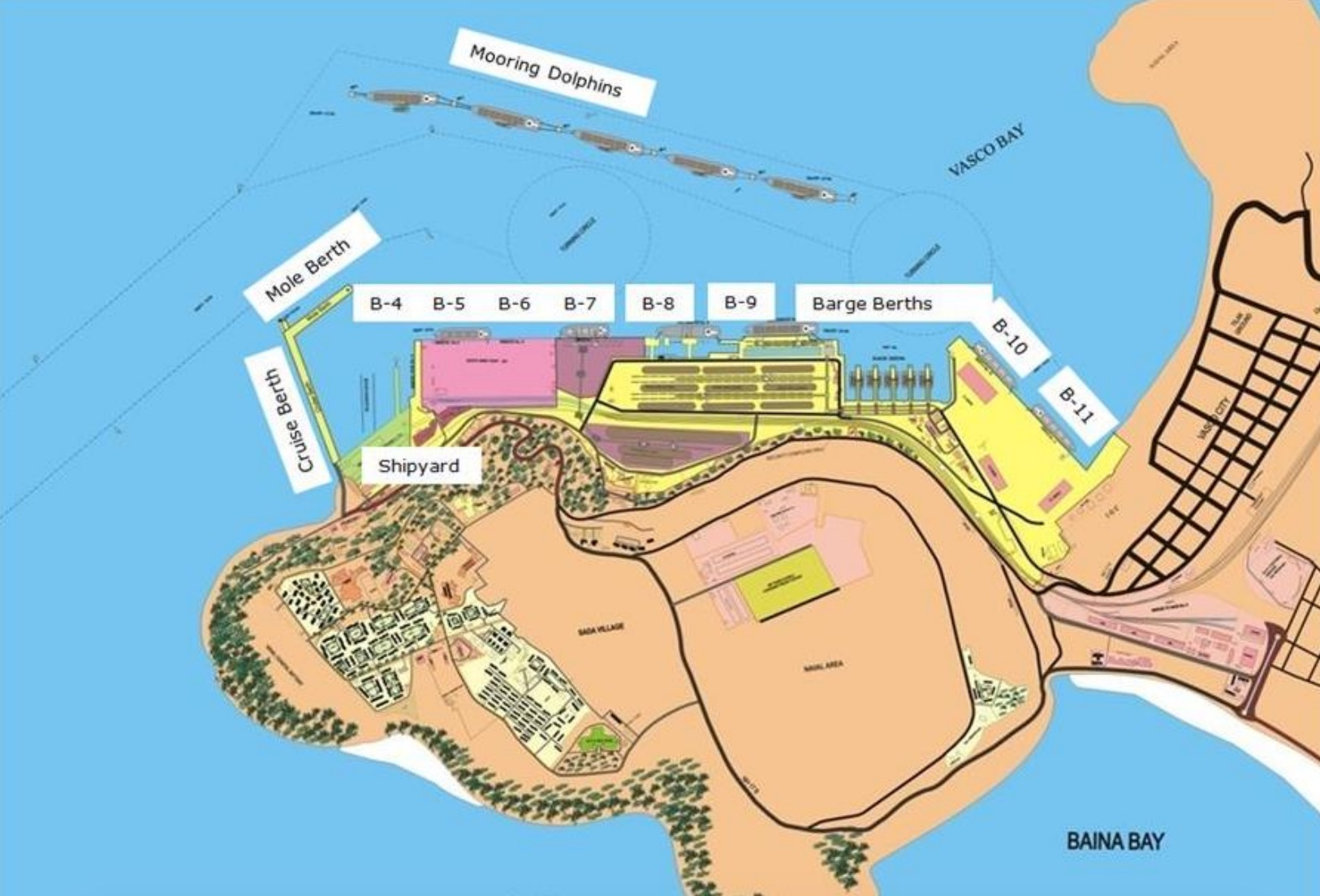 The layout of Mormugao Port. Credit: GSPCB