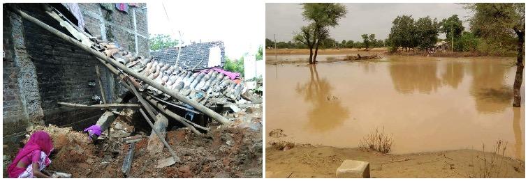 No Flood Assessment, Relief in Villages of Gujarat
