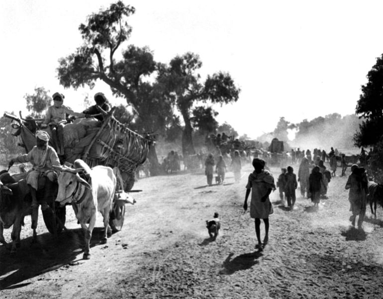 Partition refugees. Credit: Wikimedia Commons