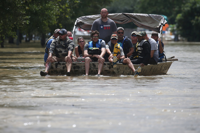 Mexico's Red Cross Delivers Aid to Storm-Ravaged Houston