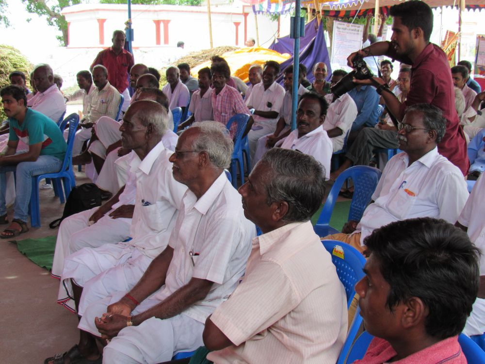 Farmers present at the launch of the project. Credit: M.J. Prabhu