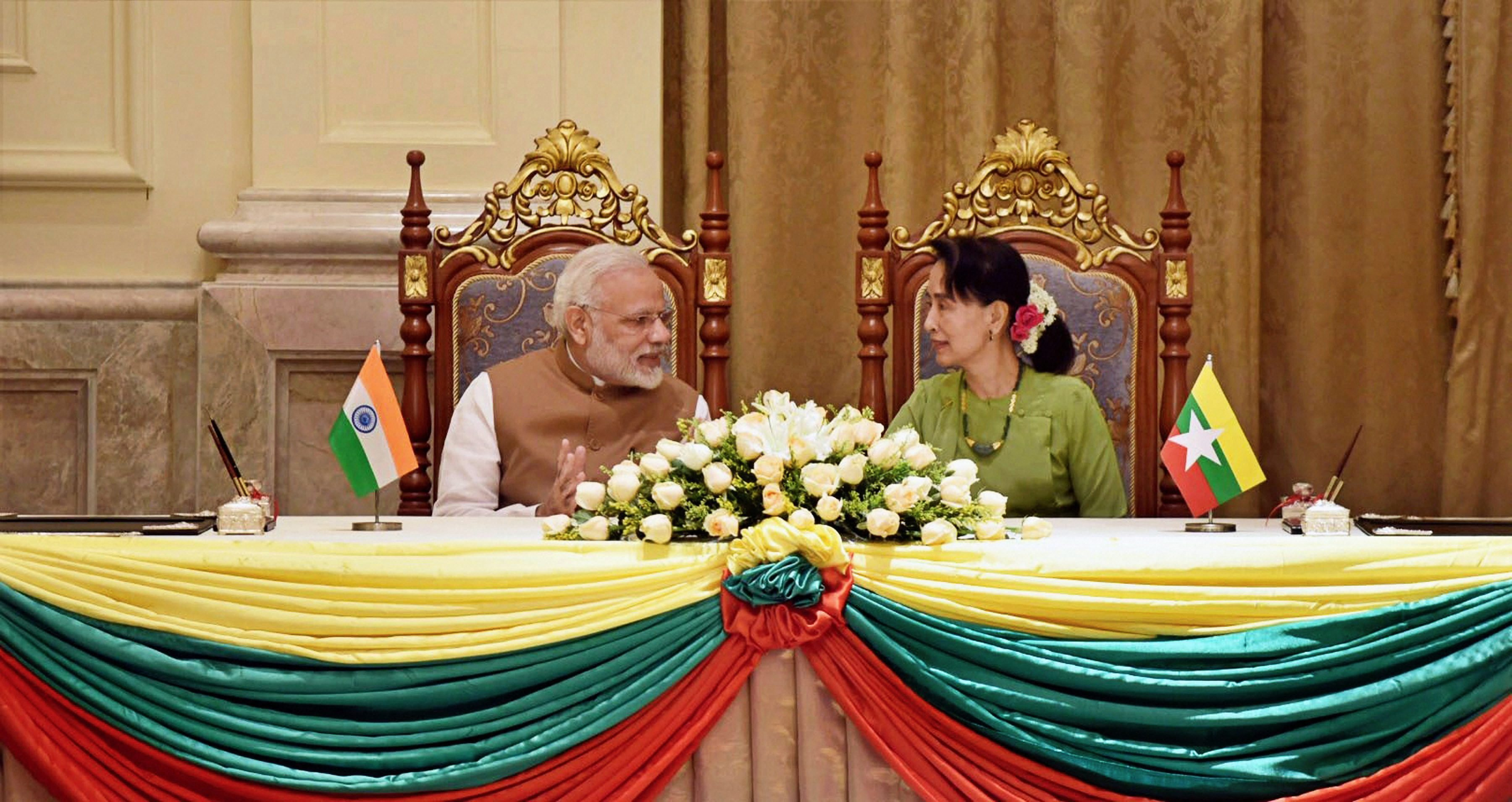 In Suu Kyi Meeting, Modi Shares 'Concern' Over Extremist Violence by Rohingya Outfit