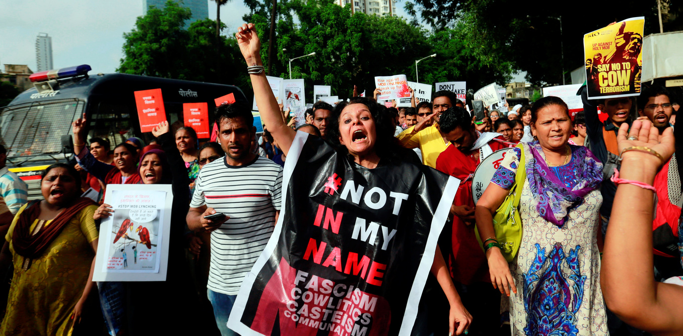 Citizens in various cities protested in early July against mob lynching. Credit: Reuters
