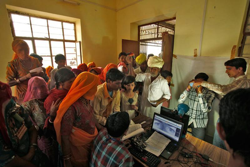 Biometric authentication for Aadhaar. Credit: Reuters