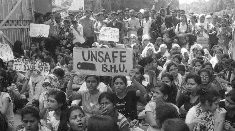 Incidents like the lathi-charge ob women in BHU require greater analysis as they are a reflection of a deeper malaise inflicting our universities. Credit: Twitter