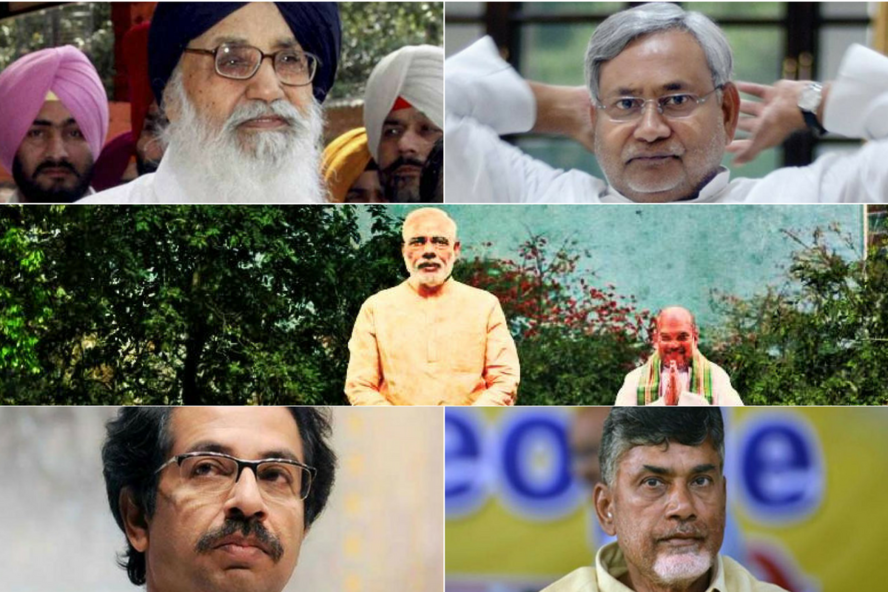 Is it goodbye to the NDA allies? Credit: Reuters/PTI