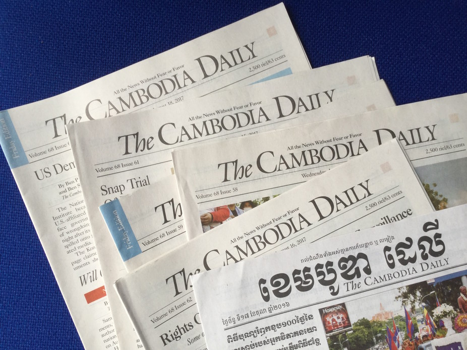 Closure of Daily Newspaper a Blow to Free Expression in Cambodia