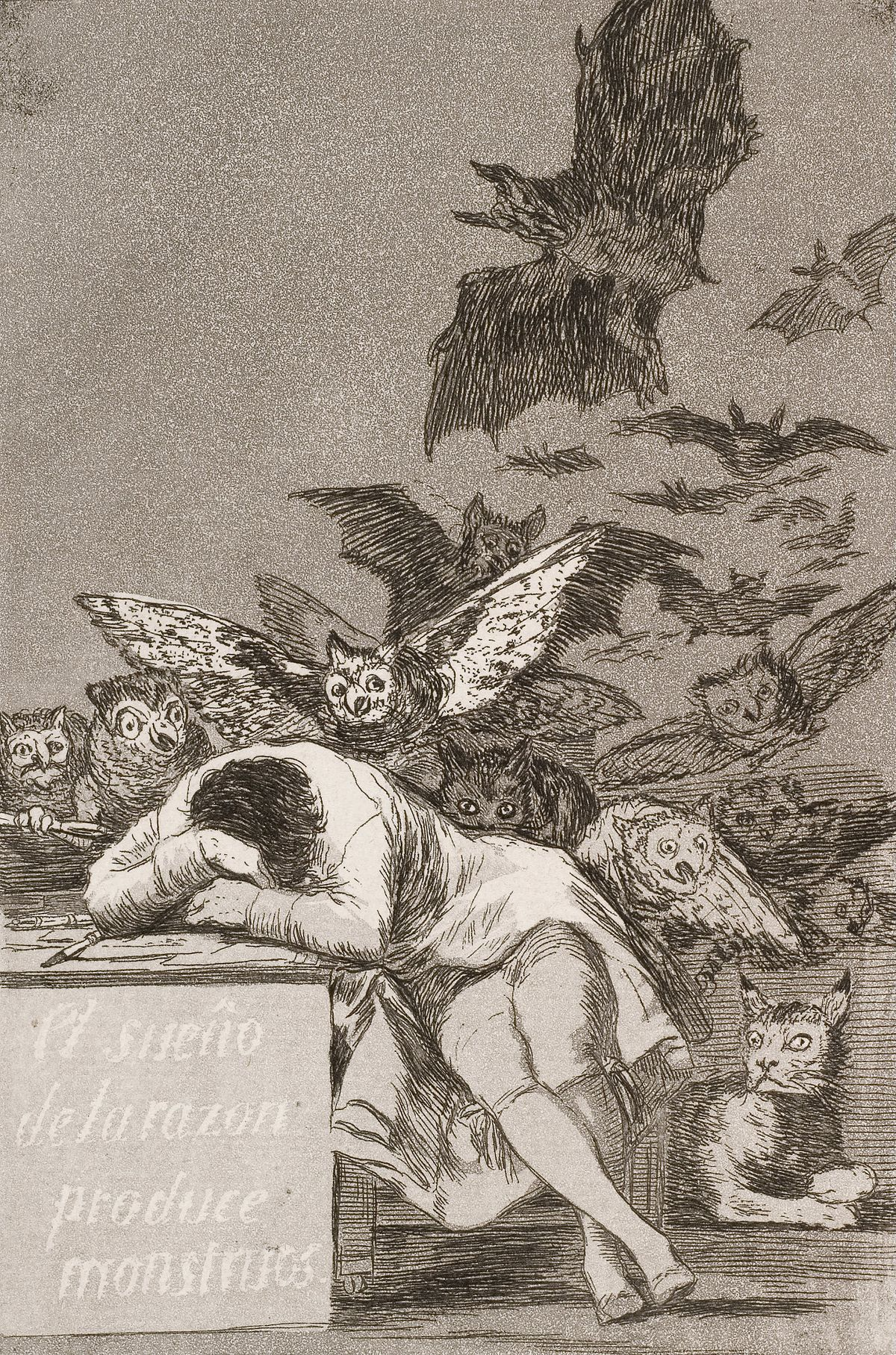 <em>The Dream of Reason Brings Forth Monsters</em> by Francisco Goya. Credit: Wikimedia Commons