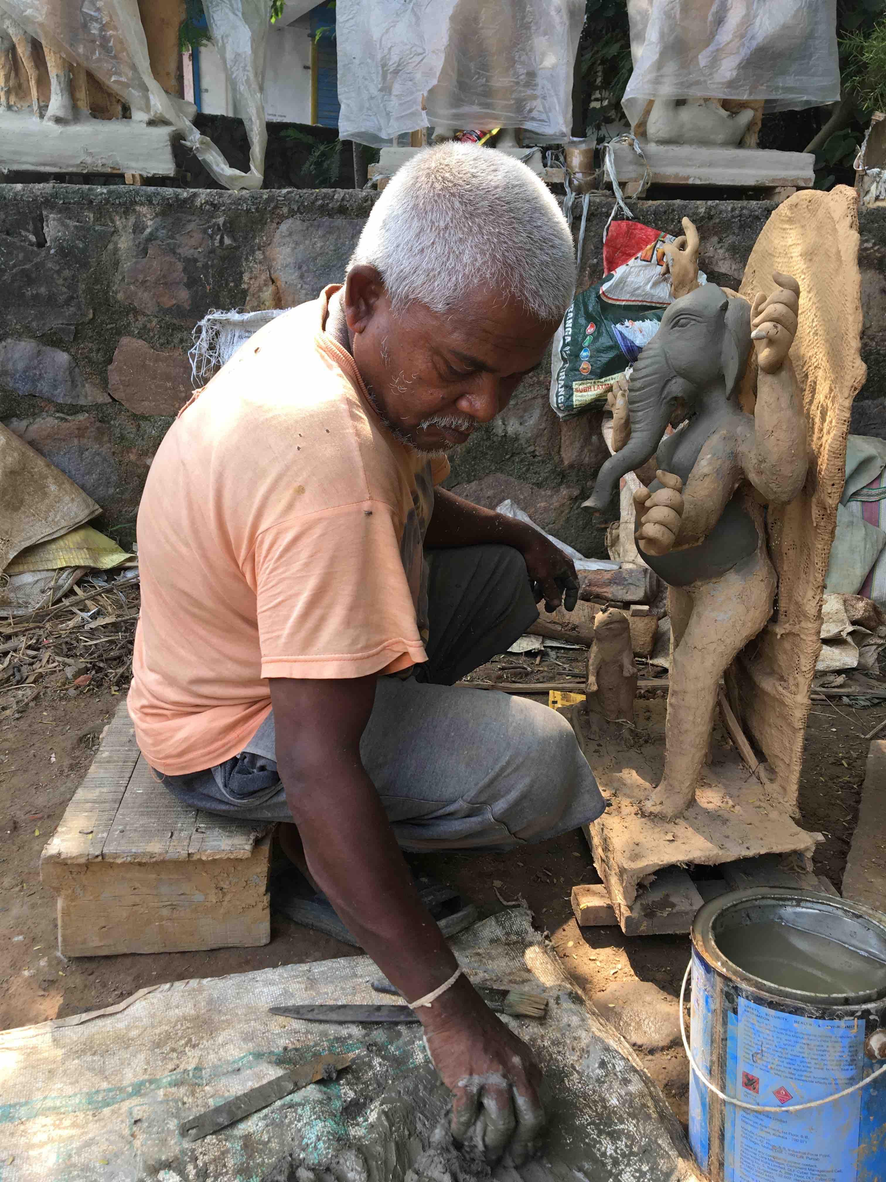 Tapan Malakar: The master at work. Credit: Revathi Krishnan