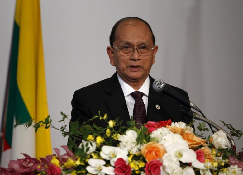 Myanmar's former President Thein Sein speaks at the Mekong-Five Economic Forum hosted by Japan External Trade Organization in Tokyo, July 3, 2015. Credit: Reuters/Toru Hanai