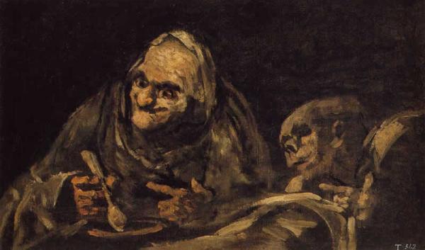 <em>Two Old Men Eating</em> by Francisco Goya. Credit: Wikimedia Commons