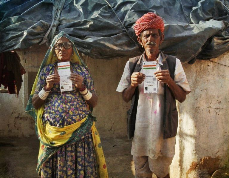 How safe is the data collected for Aadhaar cards? Representative image. Credit: Reuters/Mansi Thapliyal