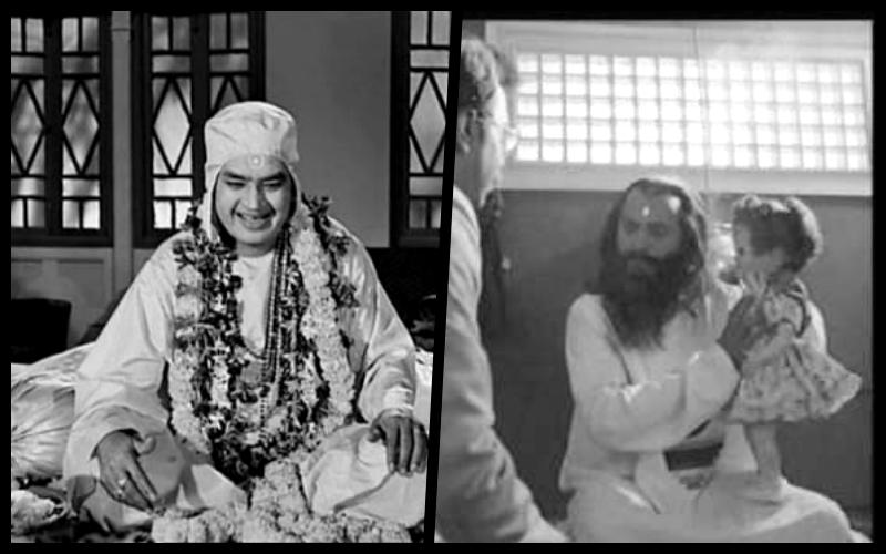 Stills from <em>Mahapurush</em> and <em>Ab Ayega Mazaa</em>.