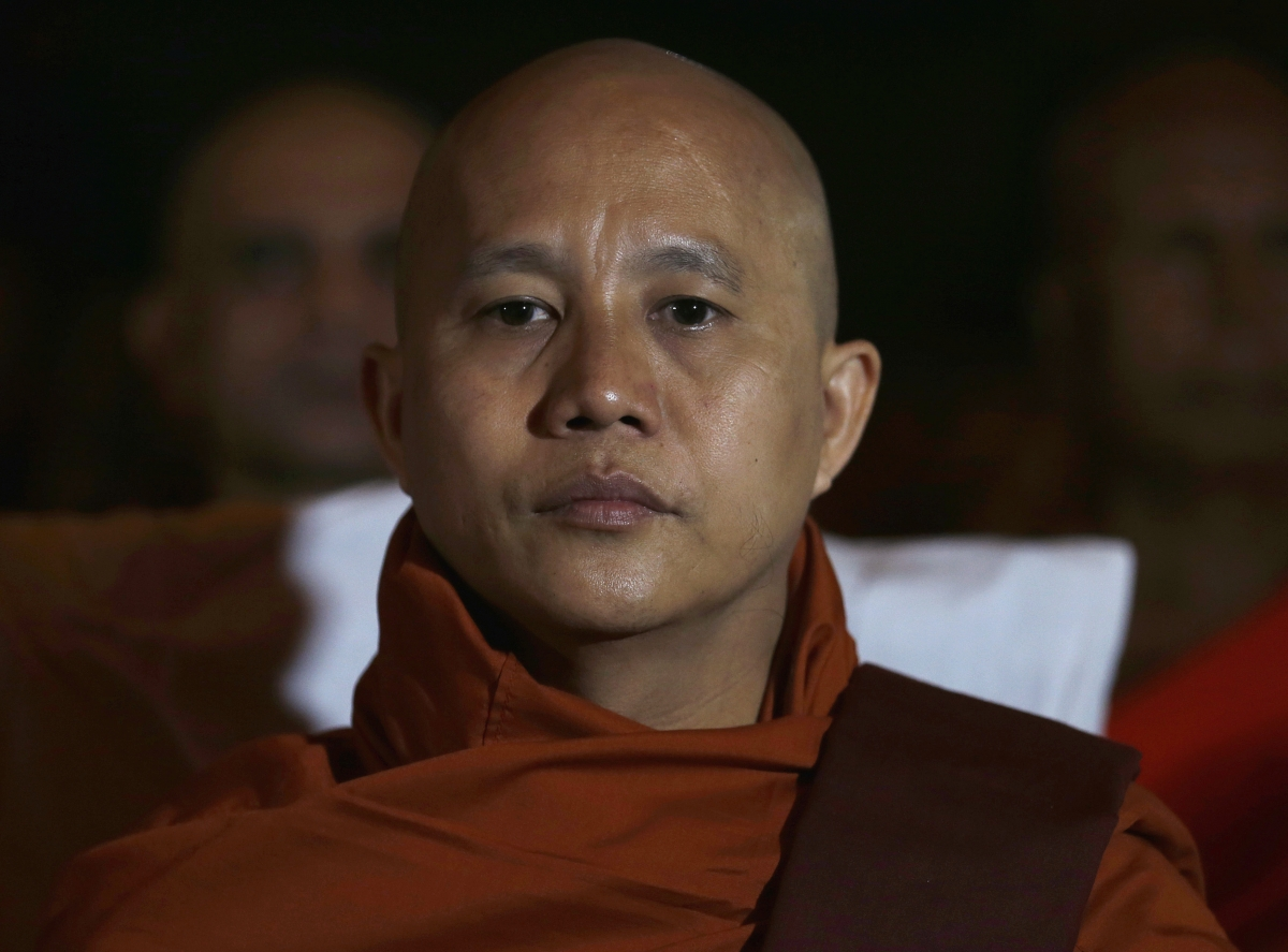 Anti-Muslim Myanmar Buddhist Monk Wirathu. Credit: Reuters