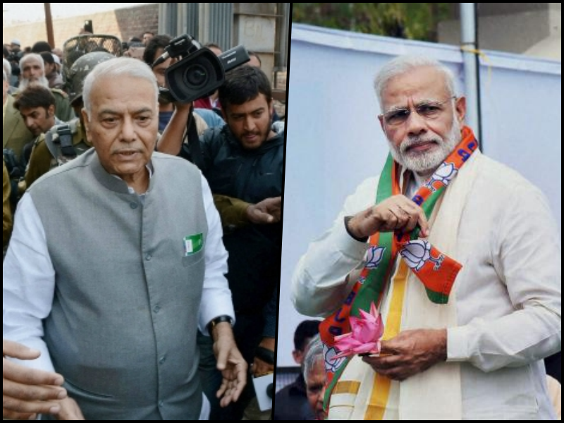 The senior Sinha's opposition is, at best, an exercise to regulate the equations between the BJP and the RSS at a time when the latter has been forced to appease its constituents. Credit: PTI