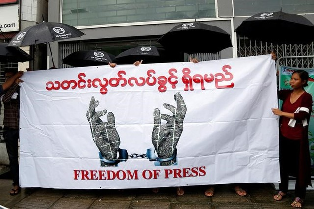 Amid Free Speech Concerns, Myanmar Military Drops Charges Against Six Journalists