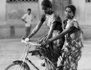 It had positive economic implications for them, but for the women of Pudukkottai, the bicycle wasn't about that. It was a metaphor for freedom. Credit: P. Sainath