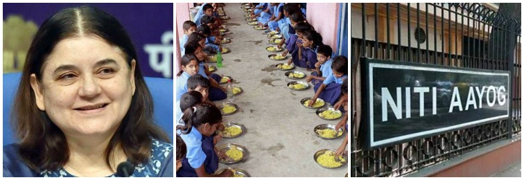 Maneka Gandhi Clashes With NITI Aayog on Replacing Food With Cash Transfers