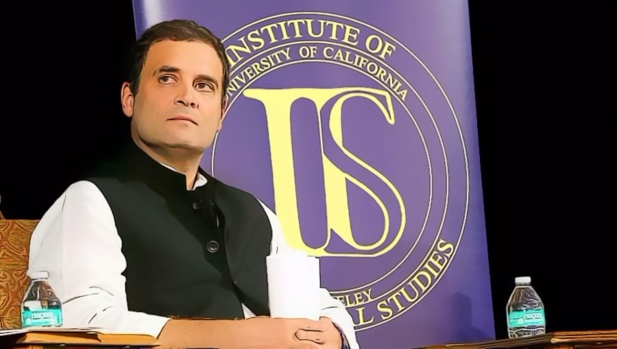 Congress vice president Rahul Gandhi at the University of California, Berkeley. Credit: PTI