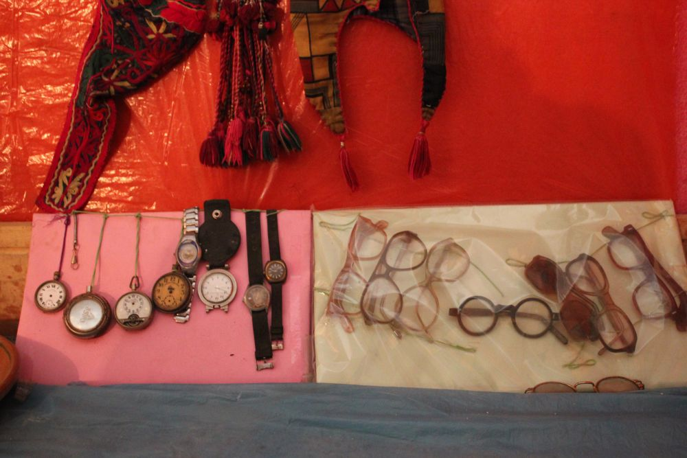 A collection of some watches, clocks and spectacles used in the past. Credit: Bhavneet Kaur