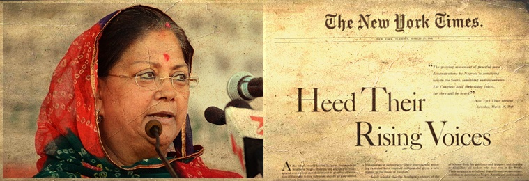 Vasundhara Raje is Trying to Do What Alabama Did During the Dark Days of Segregation