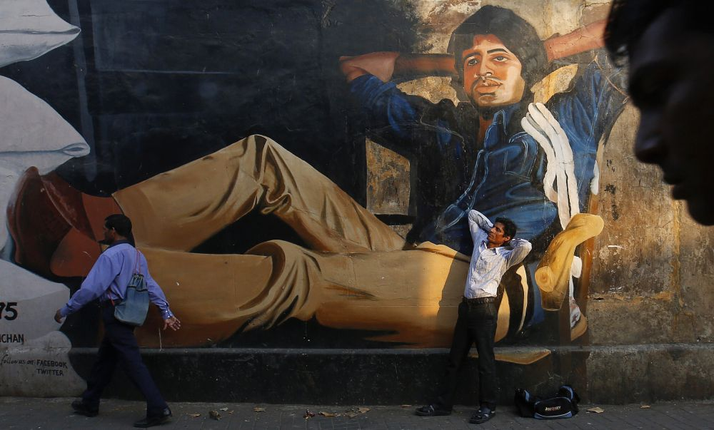 A mural of Amitabh Bachchan in Mumbai. Credit: Reuters