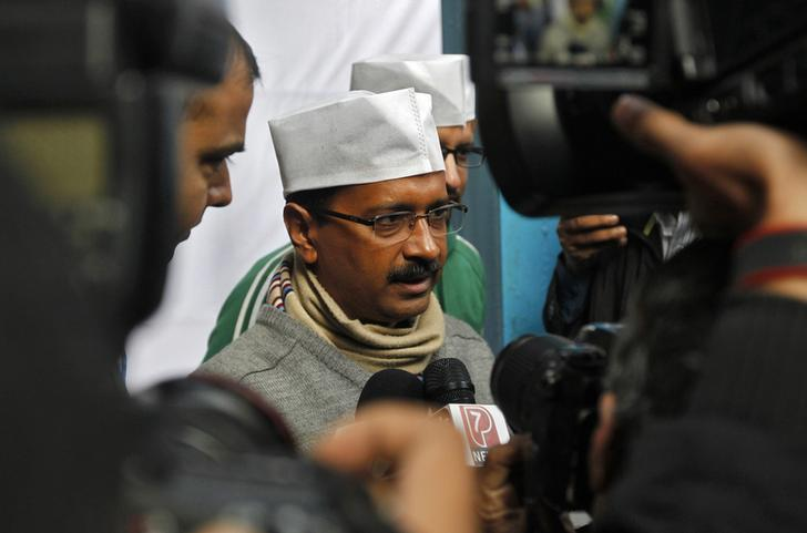 Delhi chief minister Arvind Kejriwal. Credit: Reuters/Vijay Mathur/Files