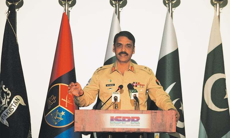 ISPR director general Major General Asif Ghafoor. Credit: Reuters