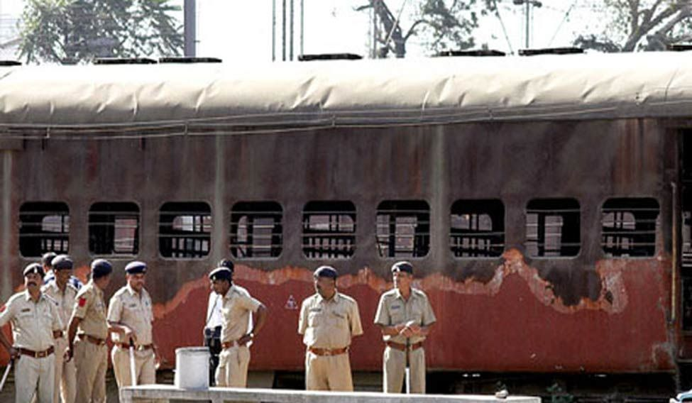 The coach of the Sabarmati Express train which was torched. Credit: PTI/Files