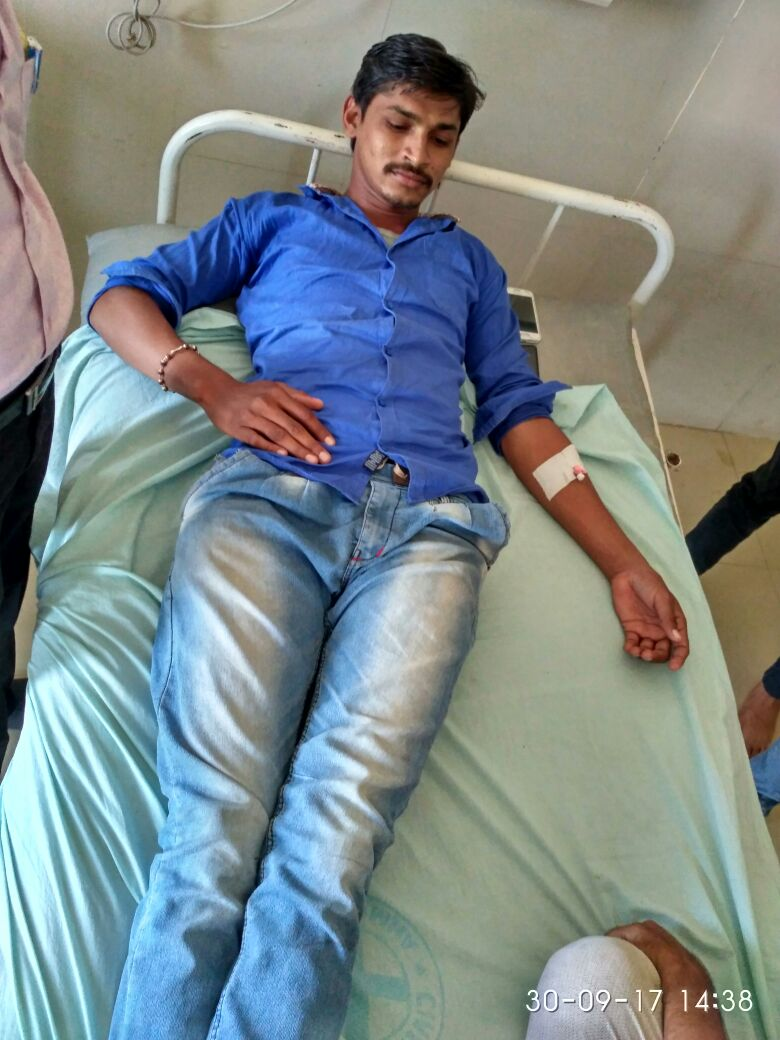 Krunal Maheria in hospital, the 30-year-old law student thrashed for sporting a moustache