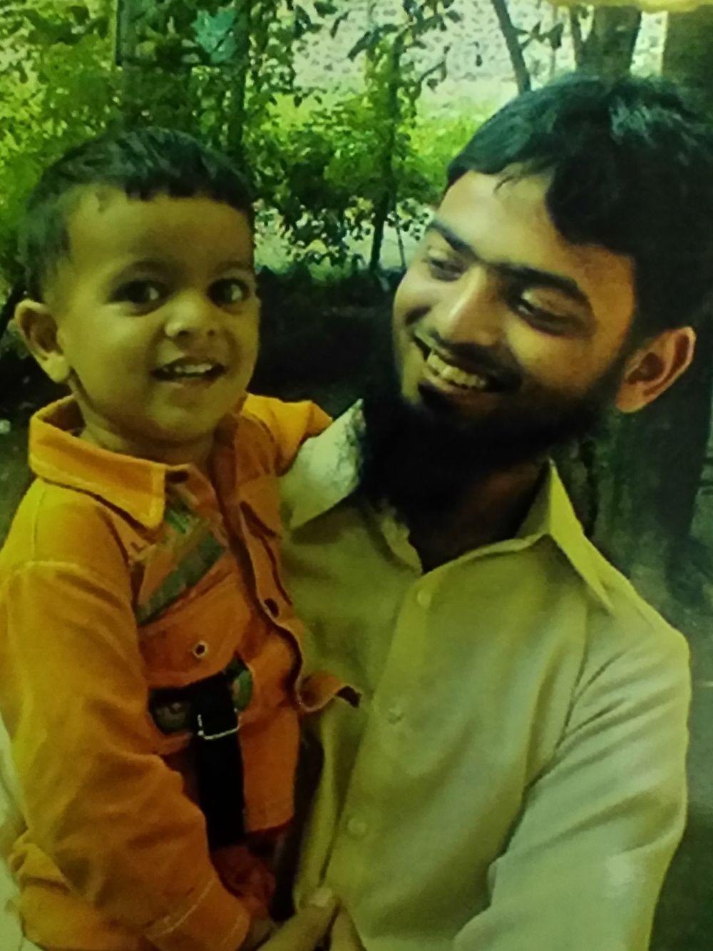 Mohsin Shaikh with his nephew Awes. Courtesy: Scharada Dubey