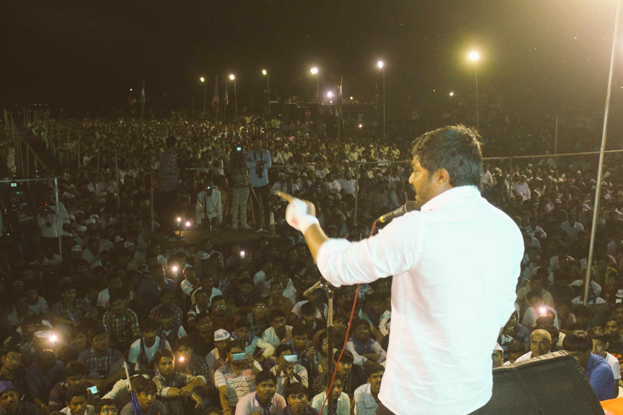 Hardik Patel's Sabha in Ahmedabad on October 24