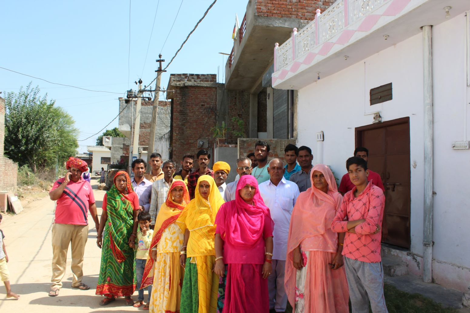 Residents of Anand Vihar colony in Nindar that is notified for acquisition