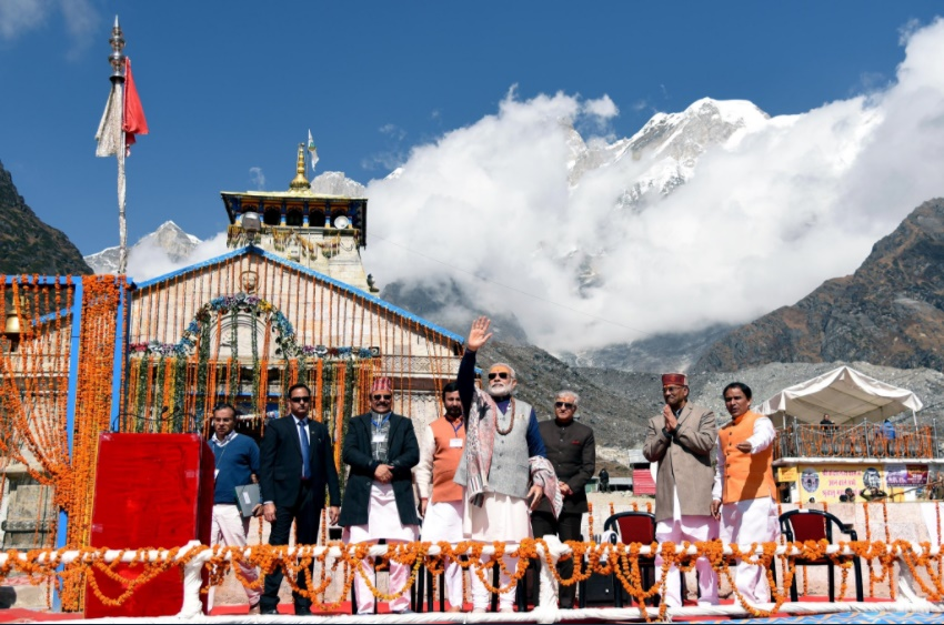 PM Modi in Kedarnath. Twitter/PMO