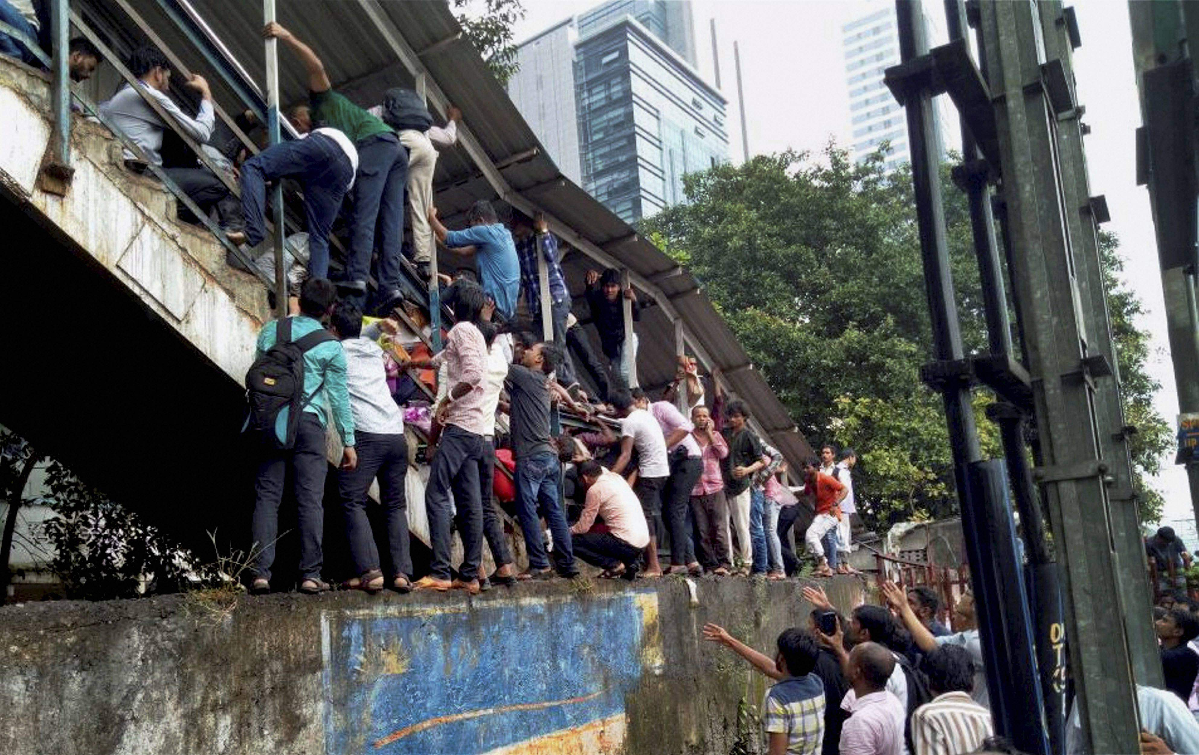 Property Is Expensive And Life Cheap On Elphinstone Road House Wiring Jobs In Mumbai Passengers Caught A Stampede Mumbais Railway Station Friday Credit Pti