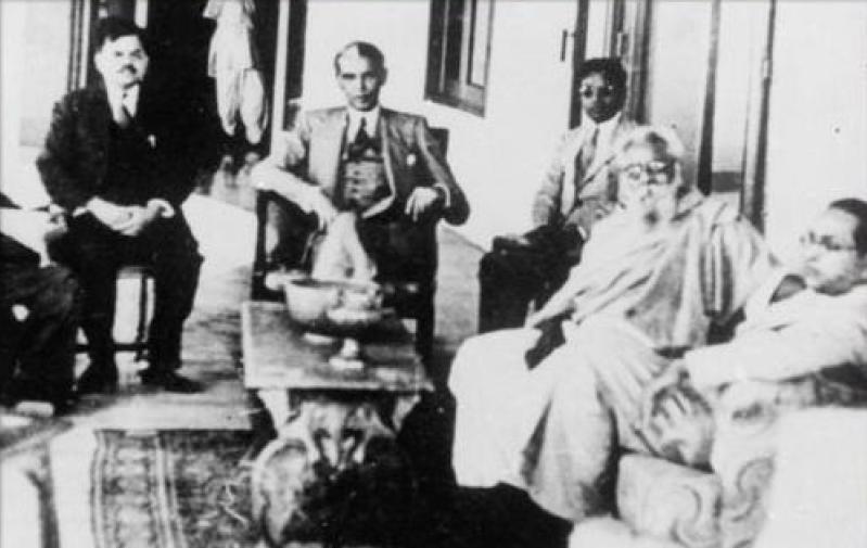 Periyar with Jinnah and Ambedkar. Credit: Wikimedia Commons