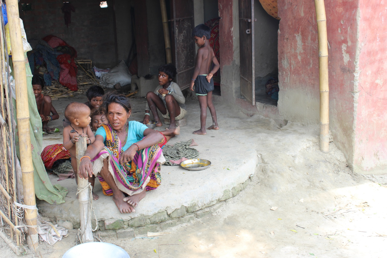 """""""Since we have a big family we don't have enough rooms to accommodate all. We are poor people. We don't have money to build new house. People in nearby village laughs at us. They tease us by saying 'dekho dekho ye log to souchale main rahete he (Look these people live in a toilet)"""". Geeta Devi along with her daughter-in-laws and two son lives in Ganeshthan village of Madhepura district."""