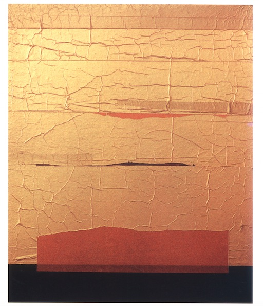 Collage, paper on wood, 1991. Credit: Dashrath patel Archive, Ahmedabad