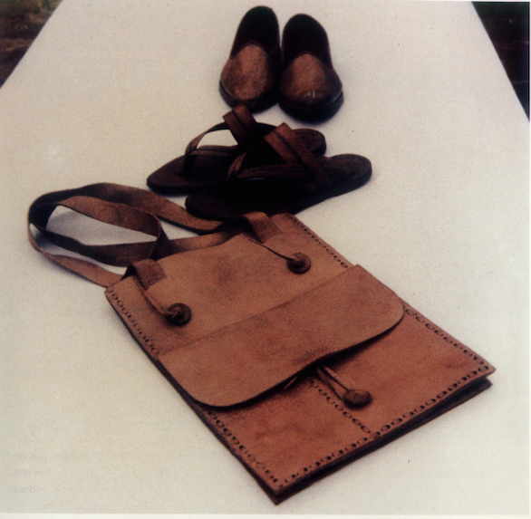 New range of leather products, Rural Design School, Sewapuri, 1985. Credit: Dashrath Patel Archive, Ahmedabad