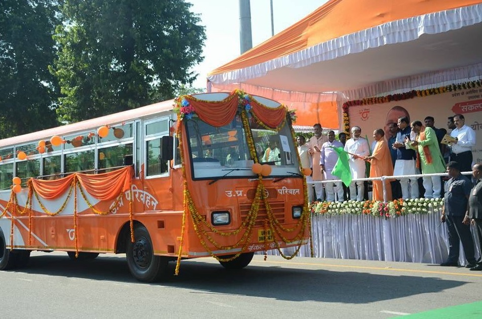 After School Bags and Booklets, Now Buses in Adityanath's UP Turn Saffron