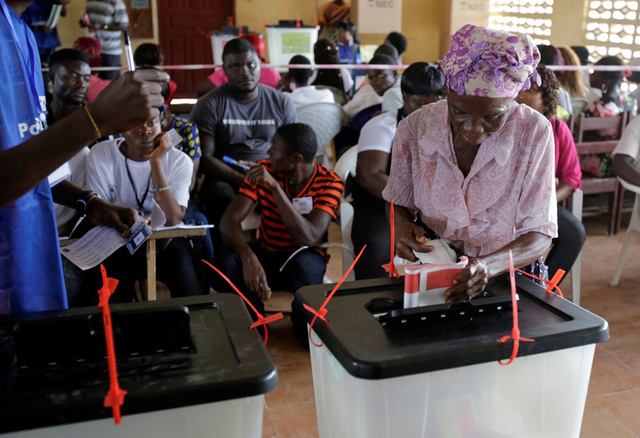 One of Liberia's Leading Political Parties Calls for Halt to Election Results