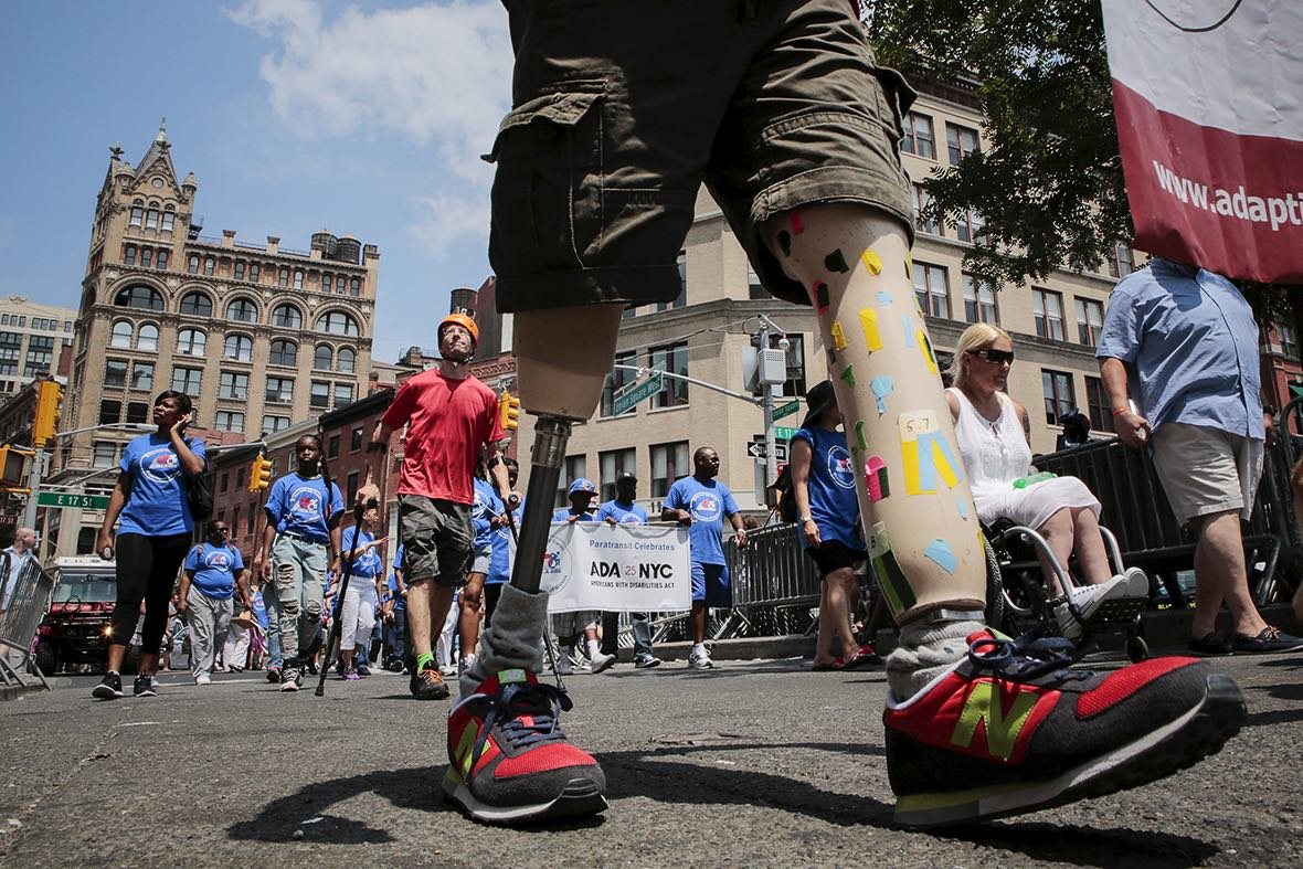 Disability Pride parade in New York. Credit: Reuters