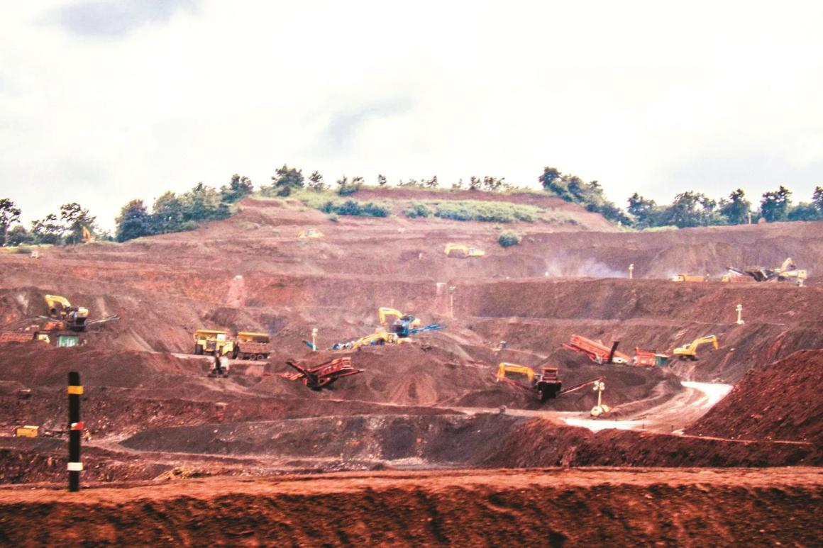 Iron ore mining in Goa. Credit: PTI