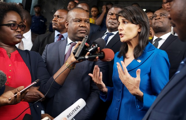Nikki Haley's Blunt Diplomacy on Display During Visit to South Sudan, Congo
