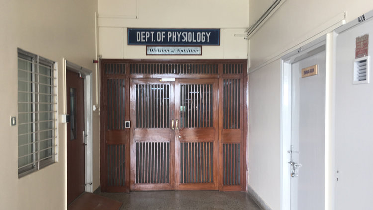 The hallowed hallways of St John's Medical College, Bangalore. Credit: Author provided