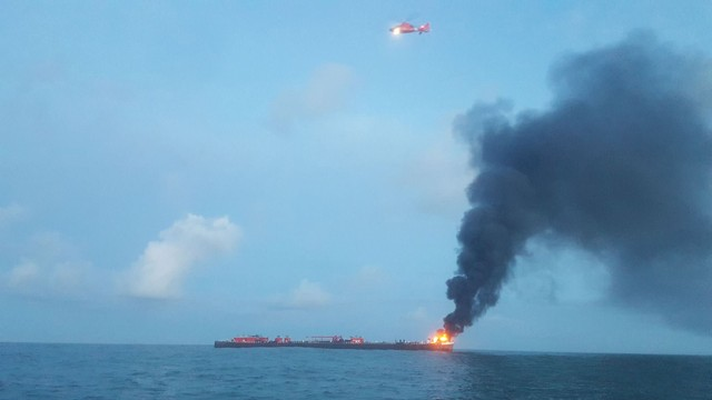 One Dead After Oil Barge Fire off Texas