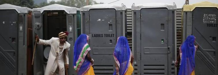Some 250,000 of India's 649,481 villages have been declared open defecation free. Credit: Reuters